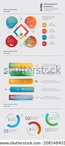 Abstract multicolor template for business and infographic
