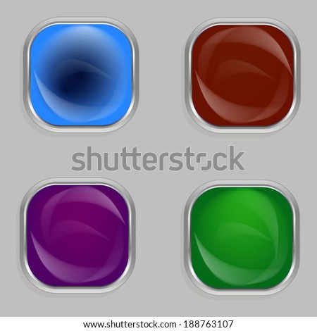 Abstract multicolored buttons.