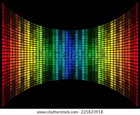 abstract multicolored graphic equalizer vector illustration isolated on black background