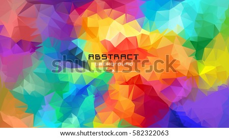 Abstract Multicolored Polygon Low Polygon Background Stock Vector All Backgrounds Color