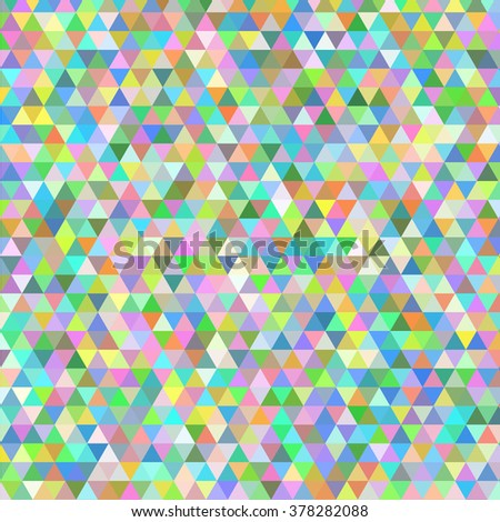 Abstract multicolored triangle geometry background with confetti