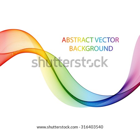 Abstract multicolored wave. The colors of the rainbow