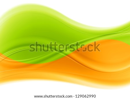 Abstract multicolored waves background. Vector design eps 10 - stock vector