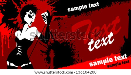 Abstract music background for music event design. vector illustration - stock vector