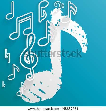 Abstract music background. Vector illustration