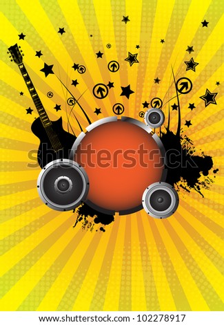 Abstract music background. Vector illustration. Clip-art