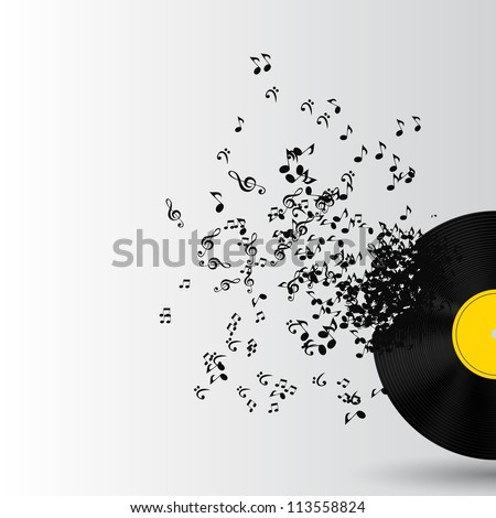 Abstract music background vector illustration for your design
