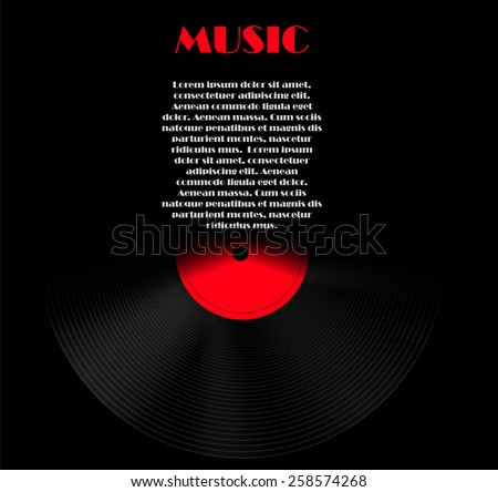 Abstract Music Background Vector Illustration for Your Design EPS10 - stock vector