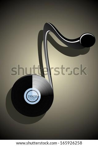 Abstract music background. vinyl design - stock vector