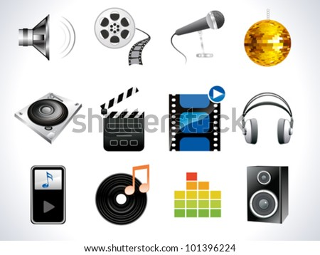 abstract music based icon vector illustration