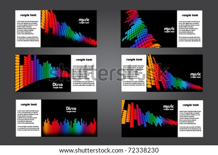 Abstract Music Brochure Templates Stock Vector