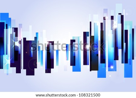 Abstract music equalizer beat - stock vector