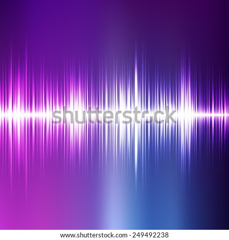 Abstract music equalizer. colorful vector illustration. - stock vector