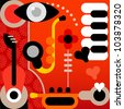 Abstract Music - graphic art. Color vector illustration. - stock photo