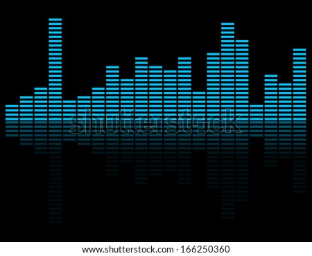 Abstract music inspired graphic equalizer background. Vector  - stock vector