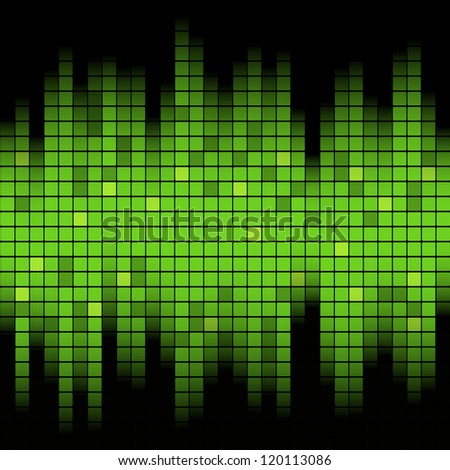 Abstract music inspired graphic equalizer background. Vector illustration.