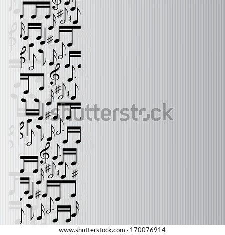 Abstract music notes background. eps10 - stock vector
