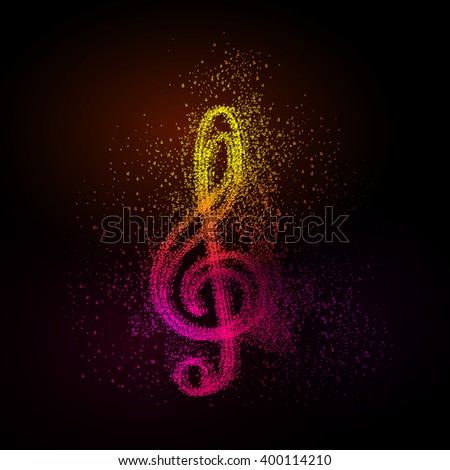 abstract music notes design for music background - stock vector