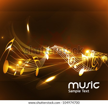 abstract music notes design for music background use, vector illustration - stock vector