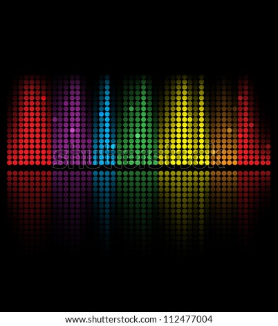 abstract music volume equalizer concept idea background - stock vector