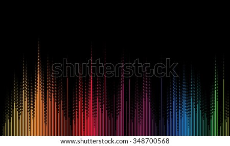 abstract music volume equalizer infinity computer  technology concept business background - stock vector