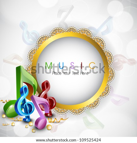 Abstract musical note. EPS 10. - stock vector