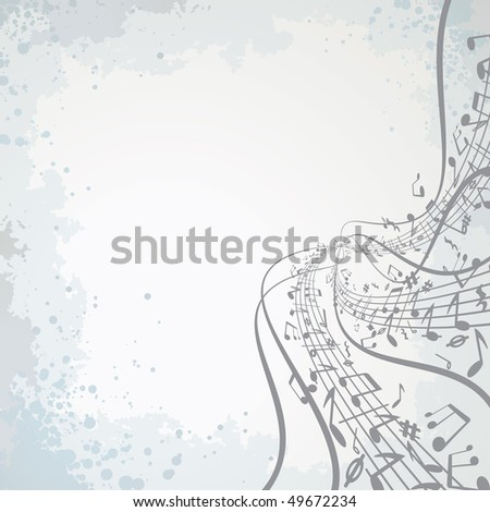 Abstract musical notes theme - stock vector