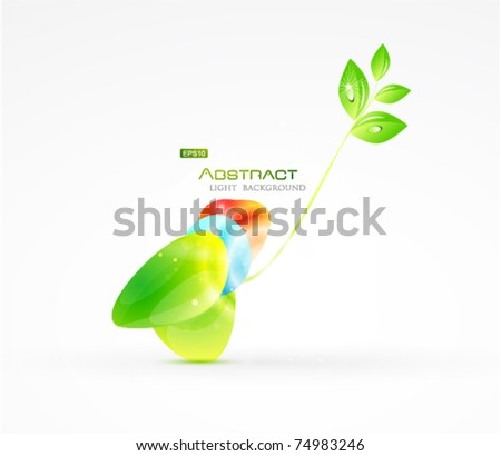Abstract natural eps10 background - stock vector