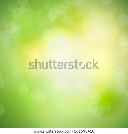 Abstract natural light background vector illustration - stock vector