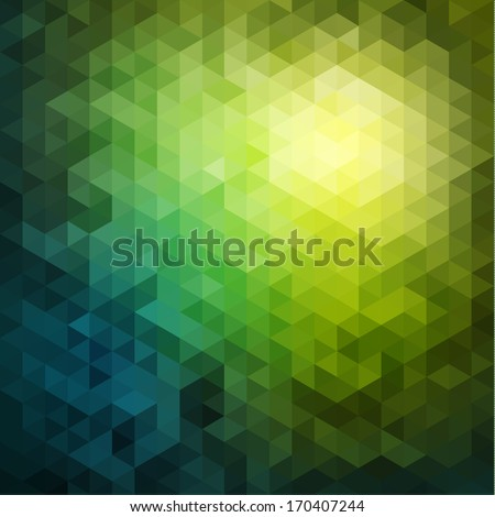 Abstract natural mosaic background - stock vector