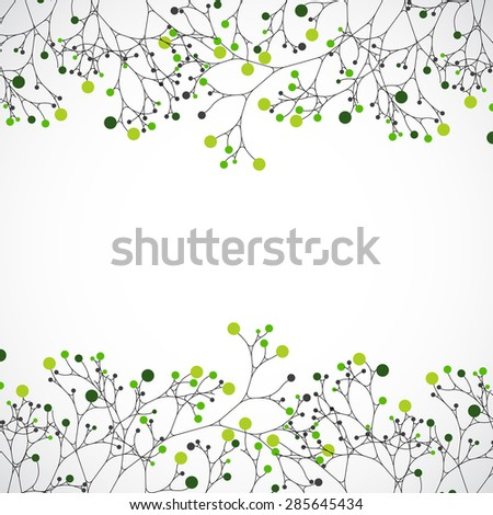 Abstract nature background. Ecology vector - stock vector