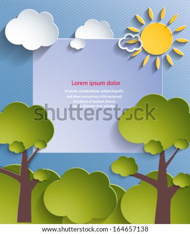 Abstract nature background. Vector eps10.  - stock vector