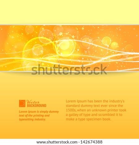 Abstract nature banner. Vector illustration, contains transparencies, gradients and effects.
