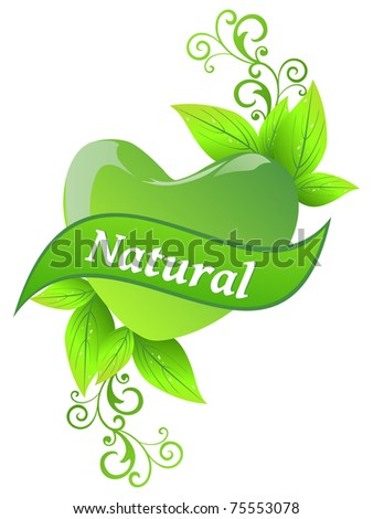 abstract nature concept background, vector illustration