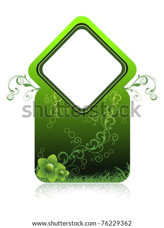 abstract nature concept background, vector illustration - stock vector