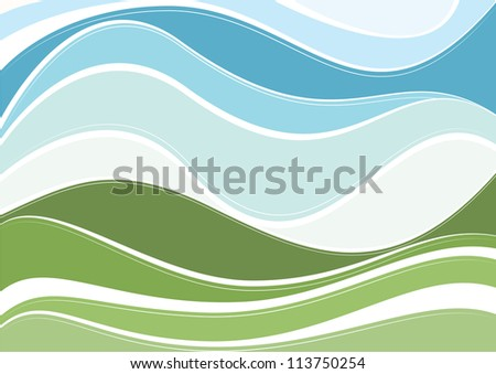 Abstract nature vector background - stock vector