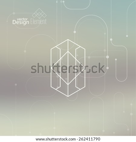 Abstract neat  Blurred Background. Hipster Geometric shape, line and dot. Modern Signs, Label. For cover book, brochure, flyer, poster, magazine, cd, website, app mobile, annual report, T-shirt, logo - stock vector