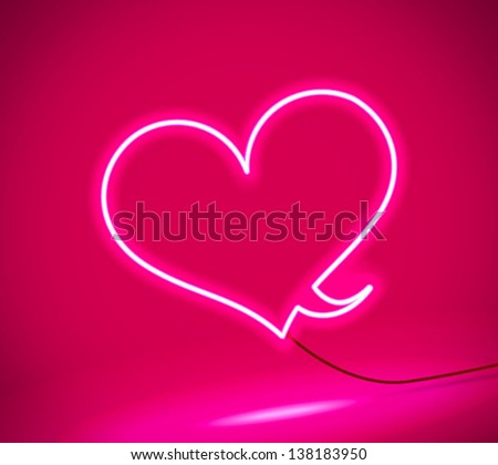 abstract neon bubble talk - stock vector