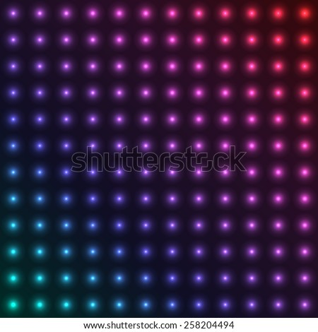 Abstract neon dotted background, vector illustration. - stock vector