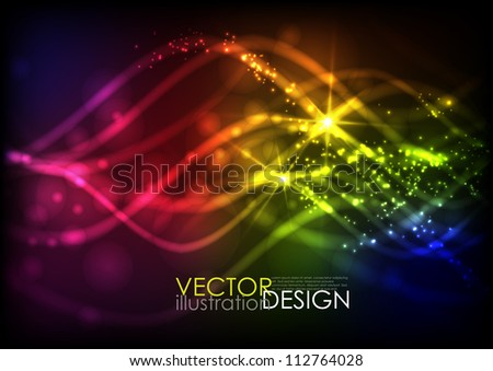 Abstract neon waves. Vector illustration. Eps 10. - stock vector