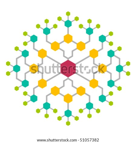 Abstract  network - stock vector
