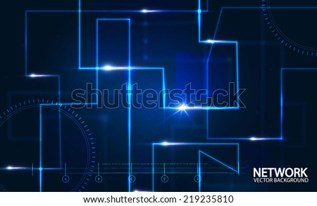 Abstract network background. Vector illustration - stock vector