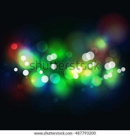 Abstract night background Vector illustration