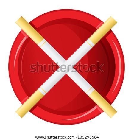 Abstract no smoking sign - stock vector