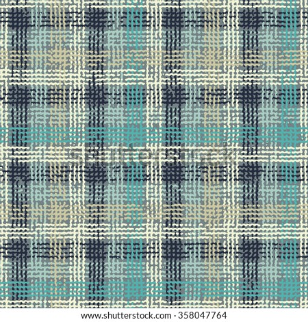 Abstract noisy checked distressed background. Seamless pattern. - stock vector