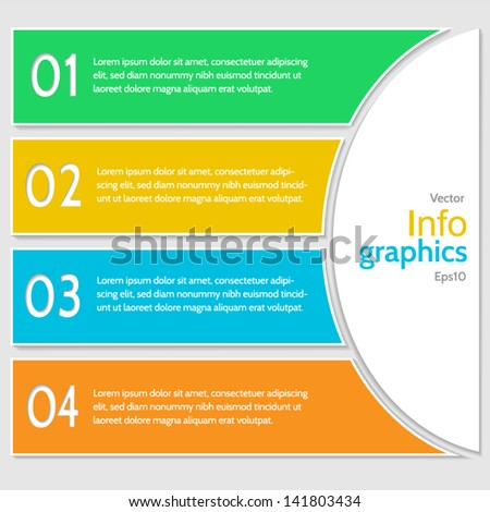 Abstract numbered banners. Progress option background. Vector illustration.Can be used for business presentation, info graphics, web-site or business report.