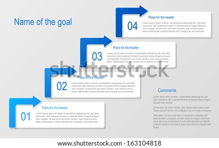 Abstract numbered banners. Progress option background. Vector illustration.Can be used for business presentation, info graphics, web-site - stock vector