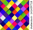 Abstract optic effect colorful square pattern background. Vector file layered for easy manipulation and coloring. - stock photo