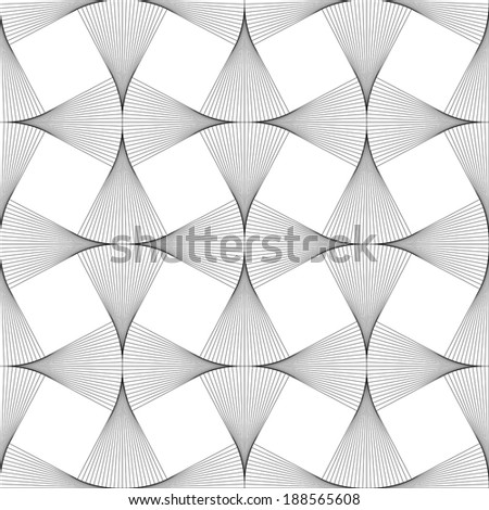 Abstract optical art illusion seamless background - stock vector