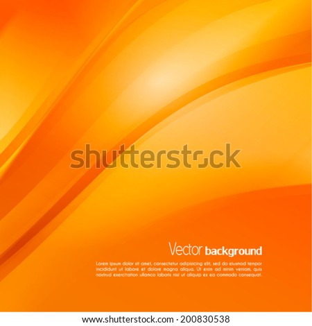 Abstract orange background. Vector - stock vector